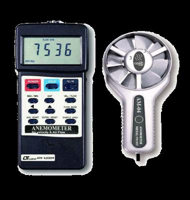 دما و سرعت سنج باد با سنسور پروانه ای فلزی Lutron AM-4206M
