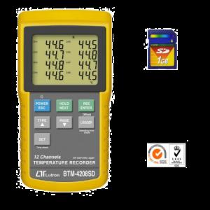 ترمومتر دیتالاگر 12 کاناله Lutron BTM-4208SD