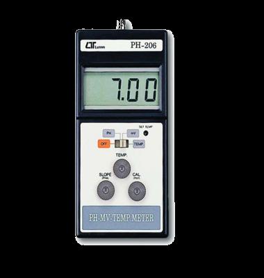 PHمتر MV متر و دماسنج Lutron PH-206