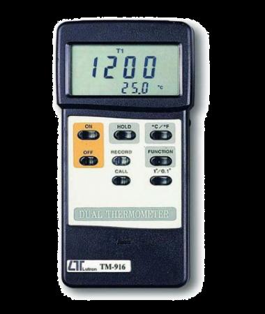 ترمومتر دو کاناله lutron TM-916