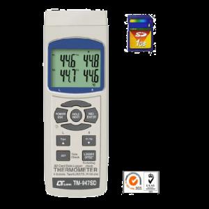 ترمومتر 4 کاناله دیتالاگر lutron TM-947SD