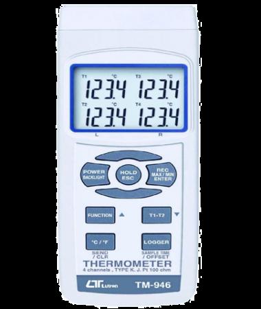 ترمومتر 4 کاناله دیتالاگر lutron tm-946