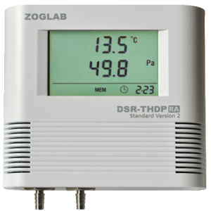 دیتا لاگر دما و رطوبت و فشار تفاضلیzoglab- DSR-THDP